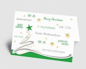Weihnachtskarte 1519303 Schwungbaum, international grün