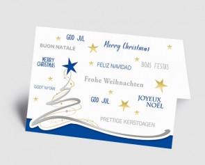 Weihnachtskarte 1519304 Schwungbaum, international blau
