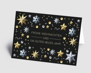 Weihnachtskarte 1519341 edel glänzende Zaubersterne