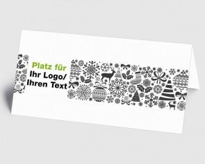 Logo-Weihnachtskarte 1519408 grafische Weihnachtssymbole