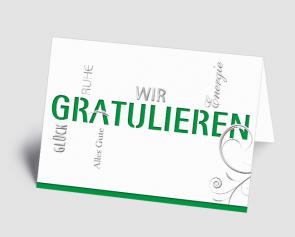 Grusskarte 1520103 Typo-Art grün
