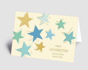 Weihnachtskarte 1520311 Sternenzauber