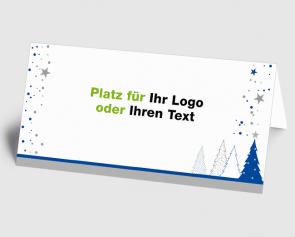 Logo-Weihnachtskarte 1520405 blauer Zauberwald