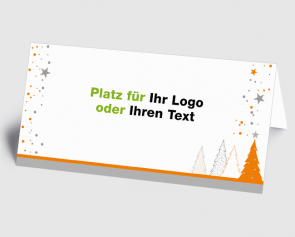 Logo-Weihnachtskarte 1520406 oranger Zauberwald