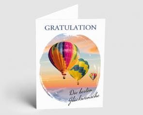 Grusskarte 1521101 Foto Heißluftballons