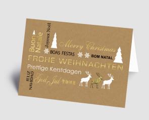 Weihnachtskarte 1521301 internationale Grüße