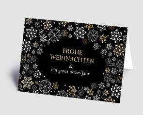 Weihnachtskarte 1521303 filigrane Schneeflocken