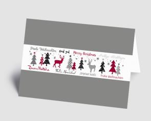 Weihnachtskarte 1521305 internationaler Text