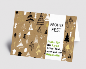 Logo-Weihnachtskarte 1521306 grafische Bäume