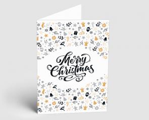 Weihnachtskarte 1521307 Typo-Art Merry Christmas