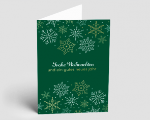Weihnachtskarte 1521312 edle Schneeflocken