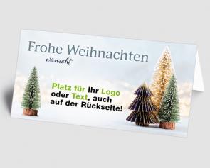 Logo-Weihnachtskarte 1521404 Deko-Bäume