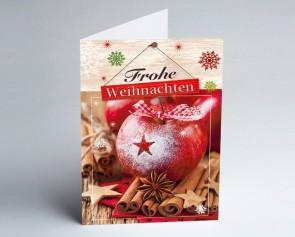Weihnachtskarte 156502-112 Zimt-Apfel