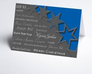 Weihnachtskarte 156504-101 Sterne blau