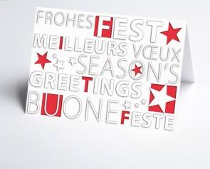 Weihnachtskarte 156508-100 Frohes Fest rot