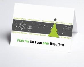Logo-Weihnachtskarte 156517-102 Winterzauber grün