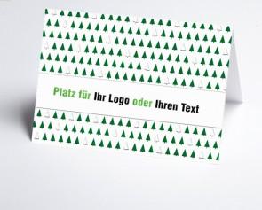 Logo-Weihnachtskarte 156521-102 Bäume grün