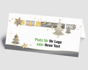 Logo-Weihnachtskarte 157513-112 Baum und Sterne