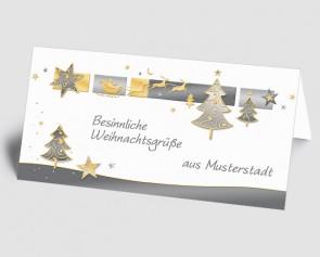 Grüße aus... Weihnachtskarte 157513-113 Baum und Sterne