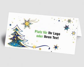 Logo-Weihnachtskarte 157514-112 Sternenzauber