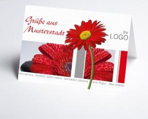 Grüße aus... Glückwunschkarte 157701-113 Rote Gerbera