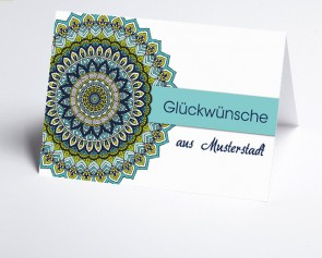 Grüße aus... Glückwunschkarte 157702-113 Mandala