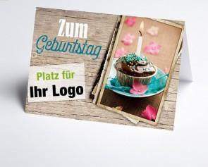 Logo-Grusskarte 157711-112 Vintage Line Schokotörtchen