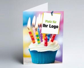 Logo-Grusskarte 157717-112 Muffin