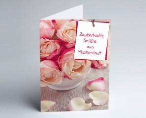 Grüße aus... Glückwunschkarte 157719-113 Rosenstrauß