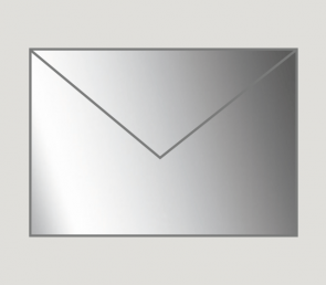 901 Kuvert nassklebend in silber, B6-Format