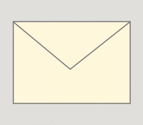 902 Kuvert nassklebend in creme, B6-Format