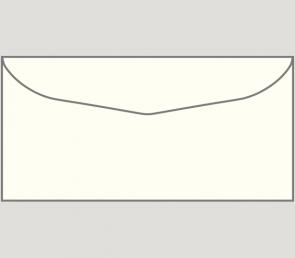 978 Kuvert nassklebend in naturweiß, DIN-lang-Format