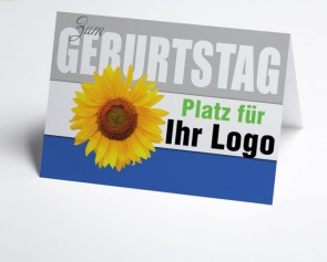 Logo-Grusskarte 150862-112 Sonnenblume