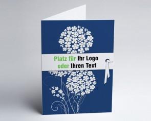 Logo-Grusskarte 150870-101 Zierlauch dunkelblau.