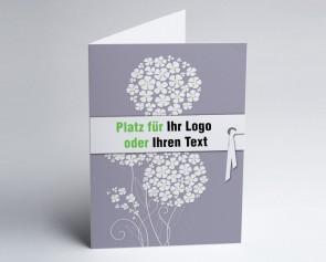 Logo-Grusskarte 150870-104 Zierlauch grau.