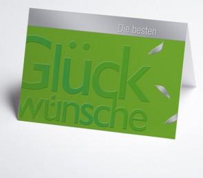 Grusskarte 150972-102 beste Glückwünsche, grün
