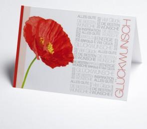 Grusskarte 150976-112 Glückwunschtext, Mohnblume