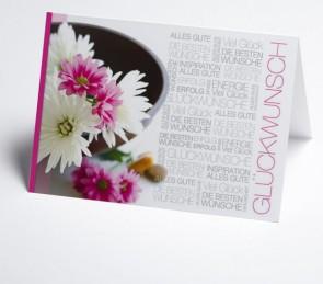 Grusskarte 150977-112 Glückwunschtext, Blüten