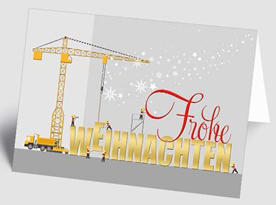 Weihnachtskarten für viele Branchen und Gewerke