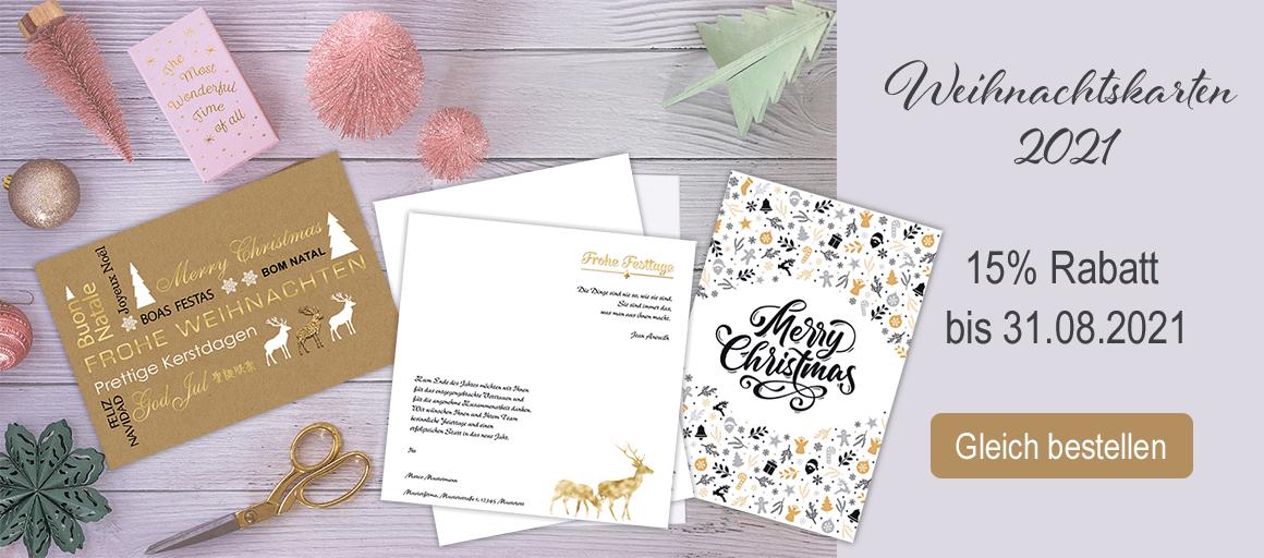 Jetzt einfach Ihre Weihnachtskarte selbst gestalten und gleich online bestellen