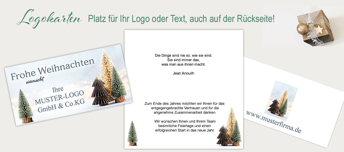 Einfach Ihren Wunschtext, Logo oder Foto auf der Titelseite einfügen