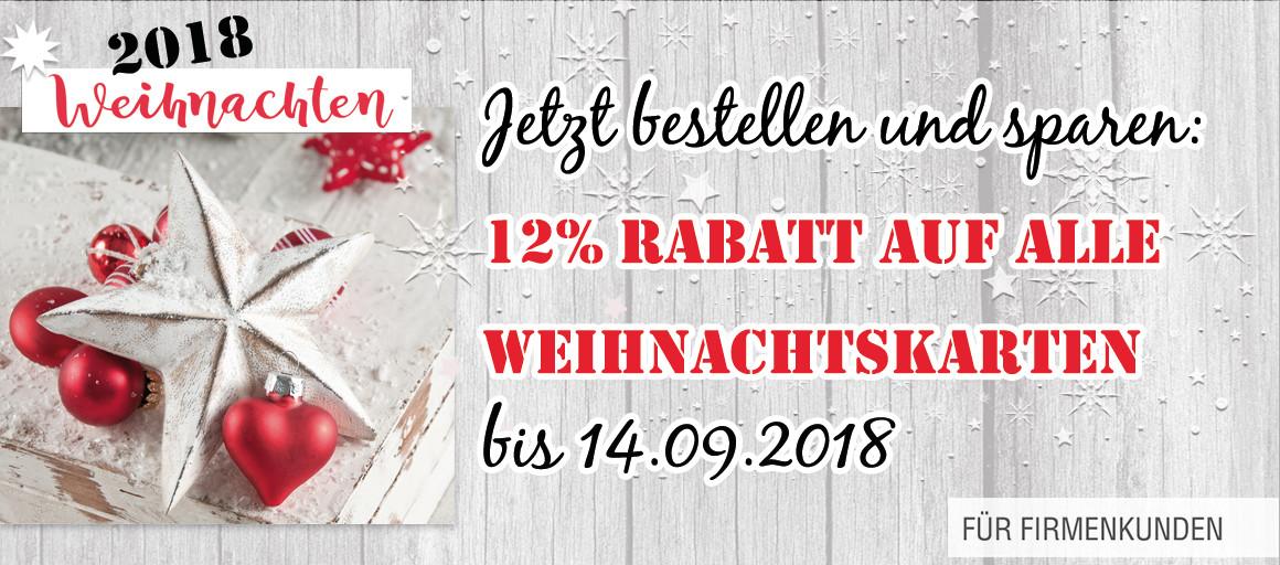 Mit 12% Rabatt bis 14.09.2018